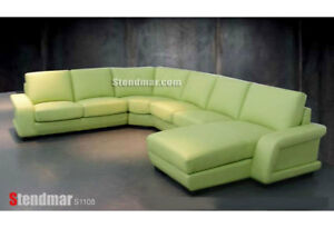 4PC MODERN EURO DESIGN LEATHER SECTIONAL SOFA S1108