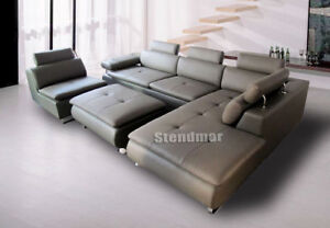 4PC MODERN DESIGN SECTIONAL LEATHER SOFA S1009