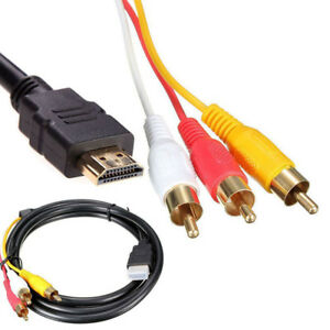 HDMI Male to 3 RCA Video Audio AV Component Cable Adapter For HDTV PS4 US SHIP