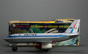 antique tin toy tn nomura boeing 737