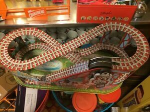 rare wind up roller coaster j 275 tin litho usa