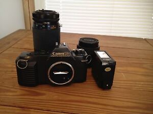 Canon Camera 35MM T50 WITH SIGMA amp; KIRON ZOOM LENSE CARRYING CASE EXTRAS