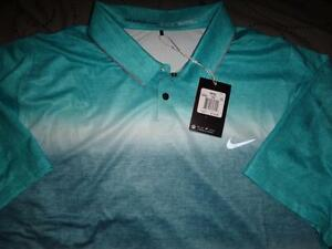NIKE TIGER WOODS COLLECTION GOLF DRI-FIT POLO SHIRT XXL XL L MEN NWT $115.00