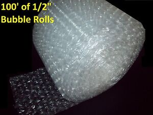 100 Feet of Bubble Wrap® 12quot; Wide 1 2quot; LARGE Bubbles Perforated Every 12quot; Big