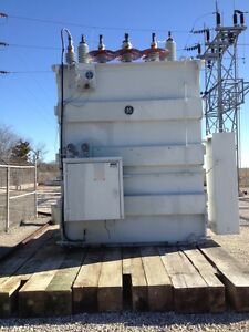 10 MVA General Electric Transformer. Power Transformer.