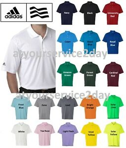 ADIDAS Mens Dri Wick Climalite GOLF Polo Sport Shirts Size S 3XL NEW A130 $24.95