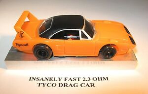 tyco slot car insanely fast 2 3 ohm rare
