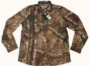 Under Armour REALTREE Camo Hunting Performance Field LS Button Shirt NWT $79.99