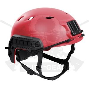 Red SWAT Military Tactical FAST Base Jump BJ type High Cut Helmet wRail LXL