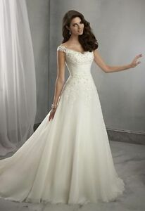 2016 New whiteivory Wedding Dress Bridal Gown Custom Size 6 8 10 12 14 16 18++