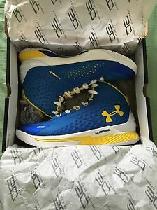 Under Armour Curry 1 One Size 11 Royal NIB Never Worn Original Packaging