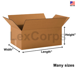 25 SHIPPING BOXES Many Sizes Available Choose L x W x H $24.99