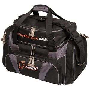 Hammer Deluxe Double BLACKCARBON 2 Ball Bowling Bag