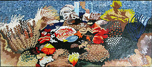 Floral Decor Mosaic Sea World Ocean Wonders Marble Mosaic AN575
