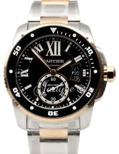Cartier Calibre Diver W7100054 42mm 18k Rose Gold Stainless Steel BRAND NEW 2019