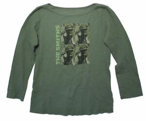 The Smiths Soldier Meat is Murder Green Girls Juniors Thermal Shirt Morrissey $24.99