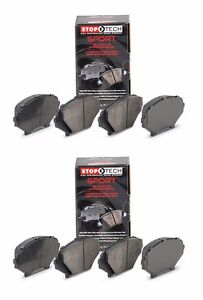 STOPTECH HIGH PERFORMANCE SPORT FRONT AND REAR BRAKE PADS FOR 04 17 SUBARU STI $177.52