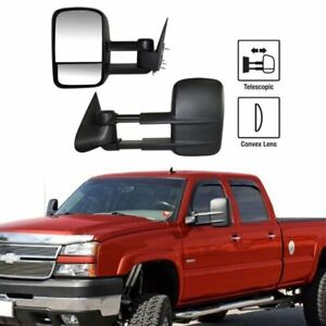 LeftRight For 99 07 Silverado Sierra Extend Telescoping Side Manual Tow Mirrors $66.98