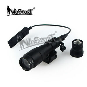 Military Hunting Outdoor M300A Mini Strong Light Tactical Flashlight fit Helmet