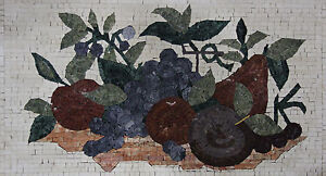 Kitchen Decor Wall Backsplash Fruits Collection Hand Made Marble Mosaic KB81