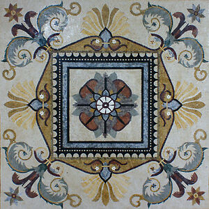 Floral Design Home Decor Marble Mosaic GEO1936