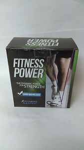 Fitness Power Resistance Band Set With Door Anchor Attachment Legs Ankle Strap