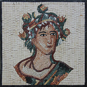 Greek Emperor Portrait Hand Made Marble Mosaic FG101