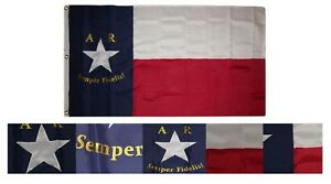 3x5 Embroidered 6th Texas Infantry 600D 2ply Nylon Flag 3#x27;x5#x27; 3 clips