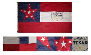3x5 Embroidered 6th Texas Cavalry 600D Nylon Premium Quality Flag 3#x27;x5#x27; 3 Clips