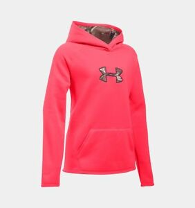 Under Armour Girls Icon Caliber Hoodie-XS-Pink ChromaRealtree Xtra-#1286595-NWT