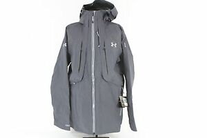 NEW! $599 UNDER ARMOUR STORM NIMBUS GRAY GORE-TEX MEN'S LARGE SHELL JACKET