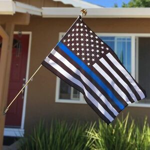 Quality Thin Blue Line American Police Flag 3X5' FADE Resistant Stars