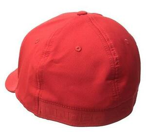 NEW Men's Headline Stretch Fit Cap Red MediumLarge By Under Armour