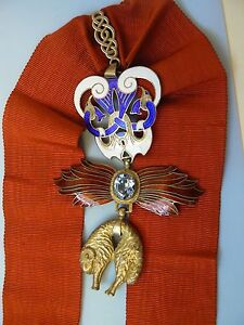 AUSTRIA SPAIN KINGDOM ORDER OF THE GOLDEN FLEECE 1920s extremely rare