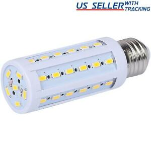 5-Pack 60W Equivalent LED Bulb 42-Chip Corn Light E26 850lm 8W Soft Warm 3000K