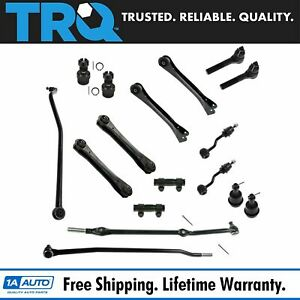 TRQ Front Steering Suspension Kit Tie Rods Control Arms Ball Joints for Jeep $249.95