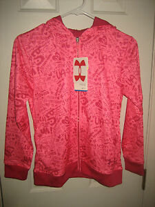 Under Armour Girls Hoodie Size Large LG Hoody YLG 14 16 Girl's Jacket Pink NEW+*