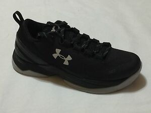 New in Box Under Armour Boy's UA Curry Two Low Basketball Shoes - Black- 001