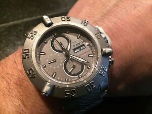 INVICTA #5427 SUBAQUA NOMA III ALL TITANIUM 7750 SWISS VALJOUX 25 JEWEL LTD. ED.