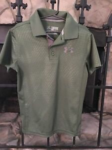 Little Boy's YXS Size 6-6X Under Armour Polo Shirt Short Sleeves Loose Fit