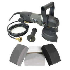 Variable Speed 5 Inch Wet Polisher and BR Diamond Hand Pad Set - BRT680HP