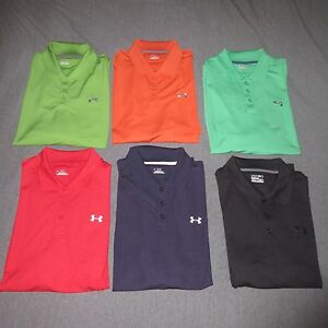 UNDER ARMOUR Mens Lot of 6 SS Polo Shirts Size Extra Large XL