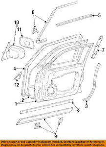 TOYOTA OEM 92-96 Camry Front Door-Side Molding Right 7573506010
