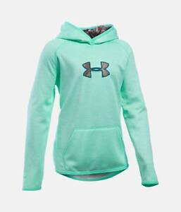 Girl's Under Armour Icon Caliber Hoodie - CrystalRealtree Camo - YXS