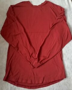Venley Womens Oversized Football T Shirt Red Large Long Tall