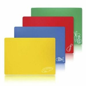 4 NEW Large Flexible Plastic Chopping Mats! Cutting Board Set Kitchen Mat