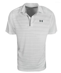 New Under Armour Golf- CoolSwitch Jacquard Polo White XXL UM1334000