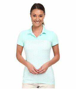 Nike Golf Women's Dri-Fit Gingham Impact Polo Shirt - TealWhite Size XS
