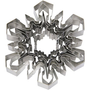 Ateco 5-Piece Stainless Steel Snowflake Cutter Set 4843