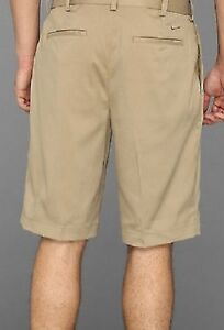 NIKE GOLF TOUR 509180 235 mens shorts PLEAT FRONT khaki brown
